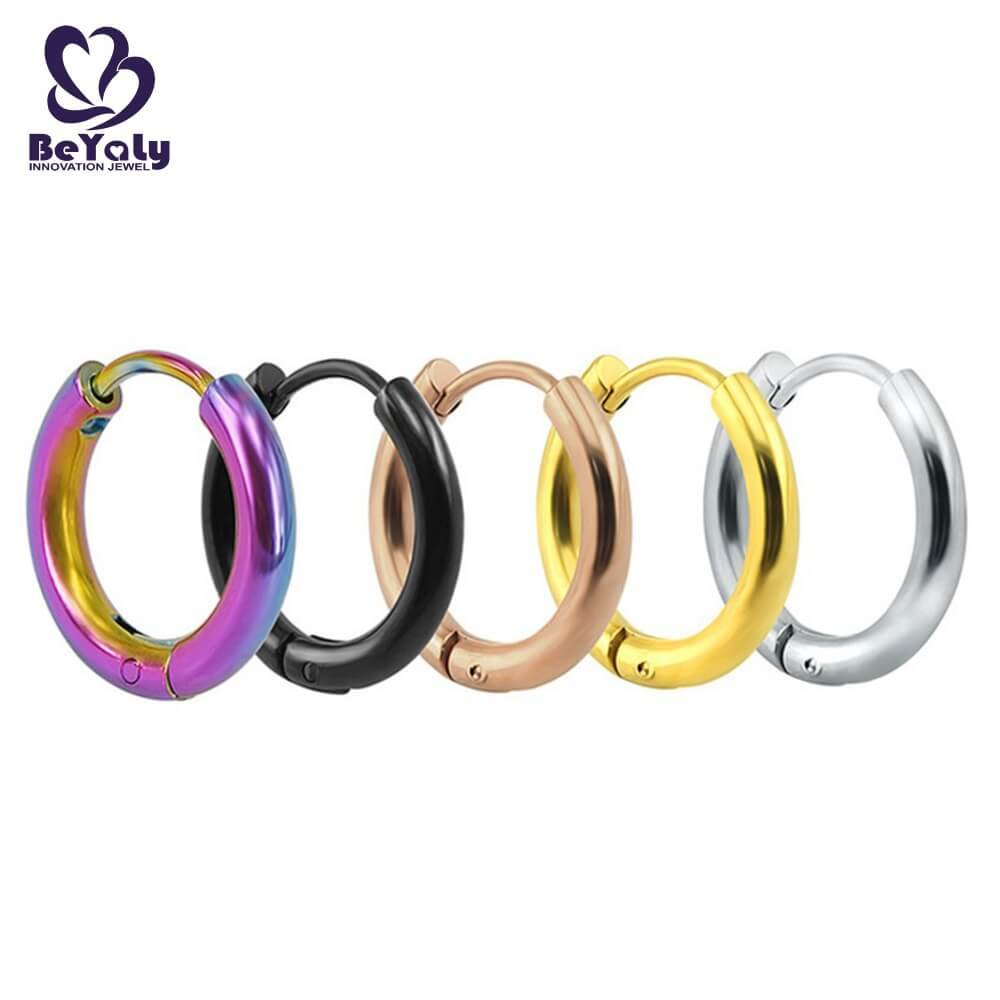 Modern women jewelry small hoop stainless steel earring