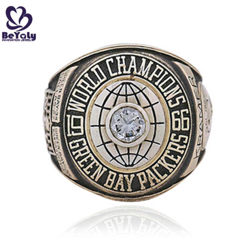 Replica 1966 Green bay packers word champions ring