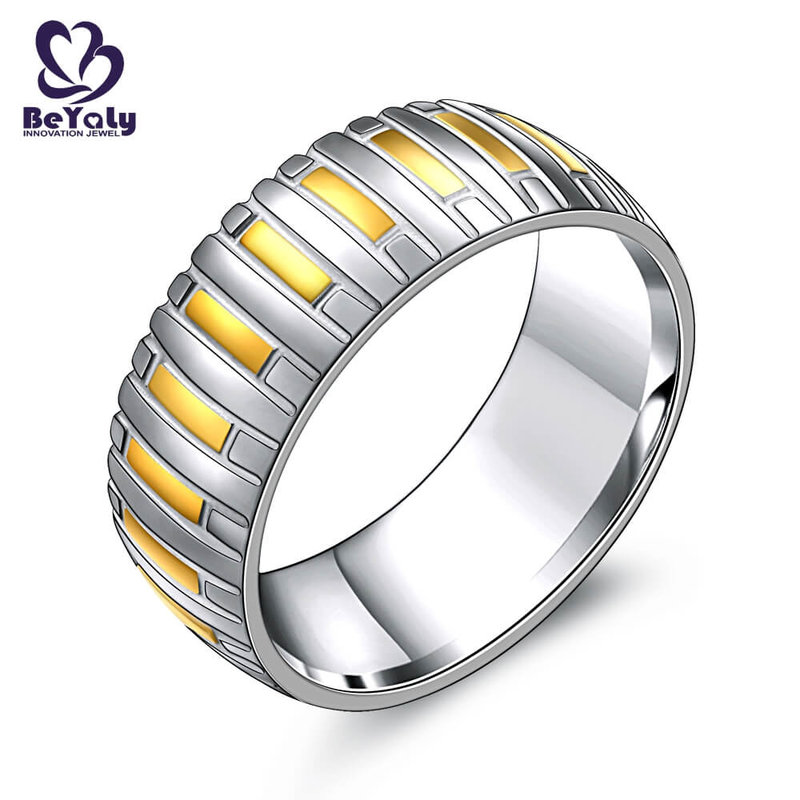 Hot sell stainless steel tyre ring with gold plated